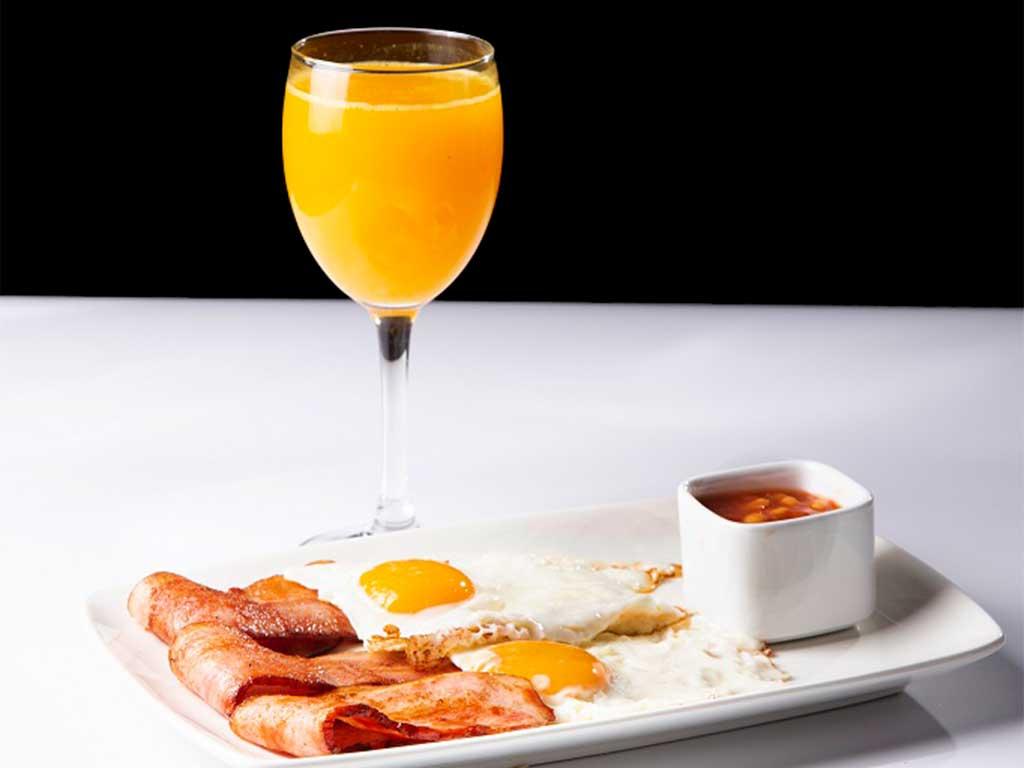 Desayuno con zumo