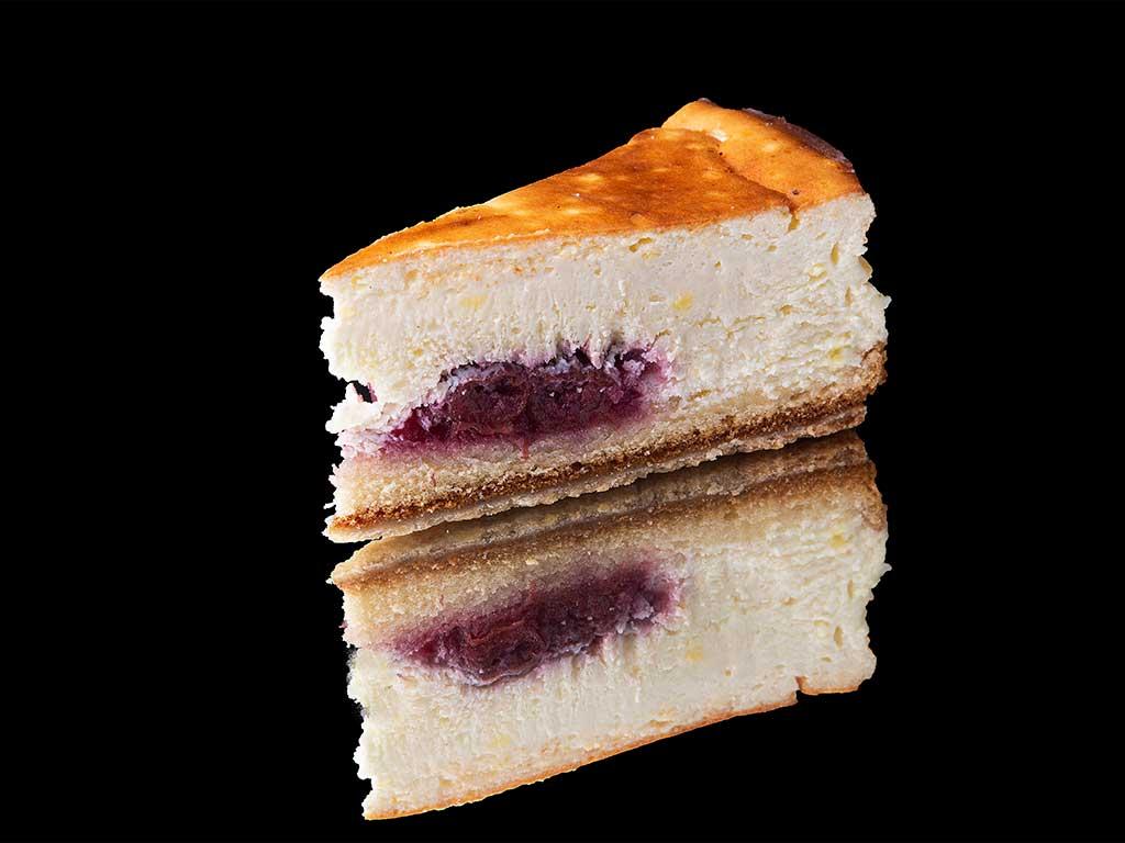 Tarta de queso y cereza